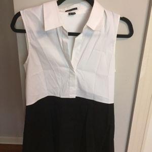 Theory black and white tunic Size M
